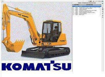 KOMATSU CONSTRUCCIÓN ELECTRÓNICA piezas 2012 EPC DVD