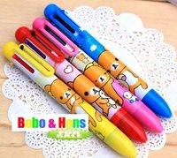 New cute Cartoon Rilakkuma style 6 colors pen / cartoon Color pen / Promotion gift / Wholesale