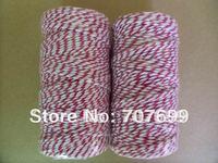 free shipping Double color 100% Cotton Bakers twine wholesale  5pcs/lot  red colour
