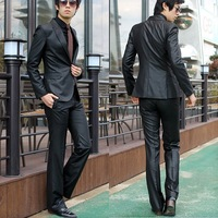 Free Shipping  men's clothing work wear slim suit groom wedding  suits male casual suit coat blazer jacket