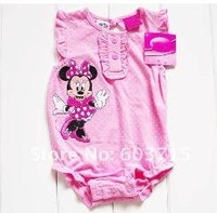NEW HOT wholesale good quality factory price promotion baby Romper pink children clothing boy's and girl's romper
