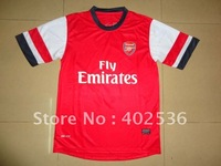 Free shipping ! 2012-2013 new style best  quality Arsenal home soccer jersey ,football shirt ,soccer kit