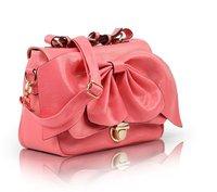 big bowknot bright pu leather 2013 special fashion lady new arrival handbag high quality