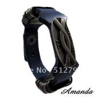 SL311/leather bracelet,high quality rerto men cowhide bracelet,fashion jewelry,100% genuine leather,100% handmade jewelry