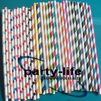 3000pcs Mixed Polka Dot Striped Paper Straws,Drinking Paper Straws ,bio-degradable Paper Straws,party paper straws,free shipping