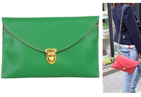 Elegant Dual-use Green Handbags Ladies Casual Designer Shoulder Handbag Day Clutch Wallet Evening Bag Leather Candy Color