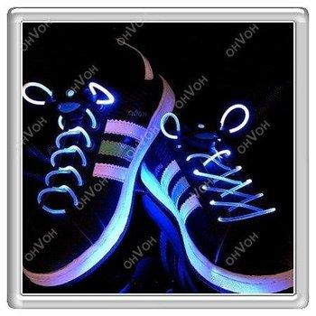 K5Q Disco Party DJ Glow LED Light Up Shoe Shoelaces Flash Stick Shoestring Strap
