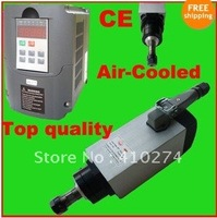 4KW AIR-COOLED MOTOR SPINDLE AND VFD INVERTER DRIVE /free shipping