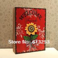 Fashion Rural Style Coloured Drawing Wooden Key Box / Wall Deco / Wall Key Box / Storage Box.Free Shipping  A0106090