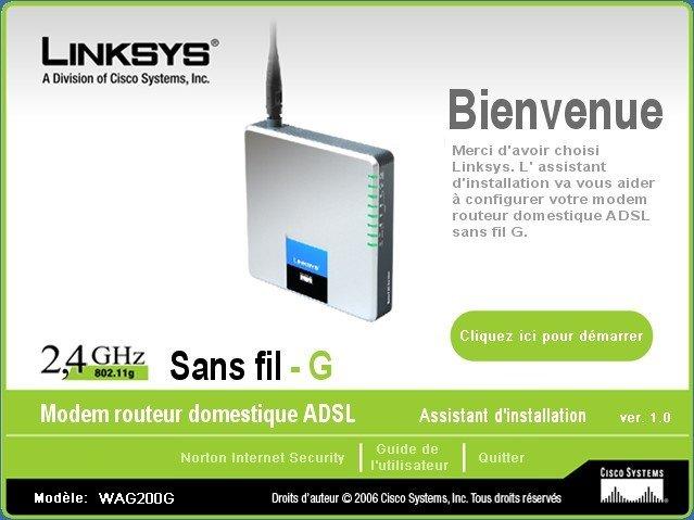 Linksys WAG200G ADSL2+MODEM Wireless Router wifi / VPN(China (Mainland))