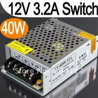 Promotion Sale!!!  12V 3.2A 38.4W 40W Switch Power Supply Driver For LED Strip 220V 110V, Free Shipping