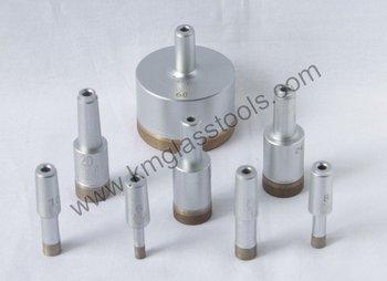 KM Brand Sintered Diamond Core Drill bits, Diameter 77mm ,used on Glass drilling machine .Size:Diameter 3mm-130mm