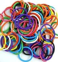 Wholesale free shipping New Candy Color Rope Elastic Girl's Hair Ties Bands Headband hair Strap Hair Band