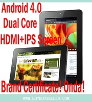 freeship Onda V711 Dual Core Tablet PC 7 inch IPS Amlogic 8726 8GB 16GB camera Metal cover Android 4.0 Tablet HDMI 1024*600 Wifi