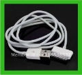 free shipping wholesale hot selling 2M long USB 2.0 Data Speed Charging Cable for iPhone 4 4G iPad iPod White AAA