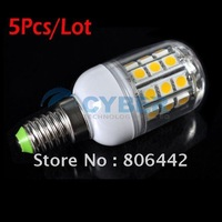 5Pcs/Lot LED bulb 3.2W E14 Warm White Light LED Lamp with SMD5050 30 LED 360 Degree Spotlighting Free Shipping