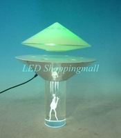 LED lamp Crystal base Magnetic Floating UFO light Electromagnetic levitation led table lamp, fantastic novelty night light