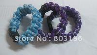 100PCS/Lot Free Shipping Newest Germanium&Titanium Braided Bracelets Survival Bracelets MIX COLORS Customize SIZE, No Box