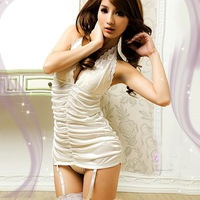 white lace halter low cut gracefull winkle shaped tight sexy corset with garter hook barebacked sexy bustier cheap sexy lingerie