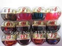 Nail art wholesale coloured glaze gel jelly glue of gel color UV glue 12 color