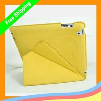 MOQ 1PC Super KAJSA ORIGAMI Microfiber Case/Cover for ipad2/ipad3/new ipad  with retail + Free shipping