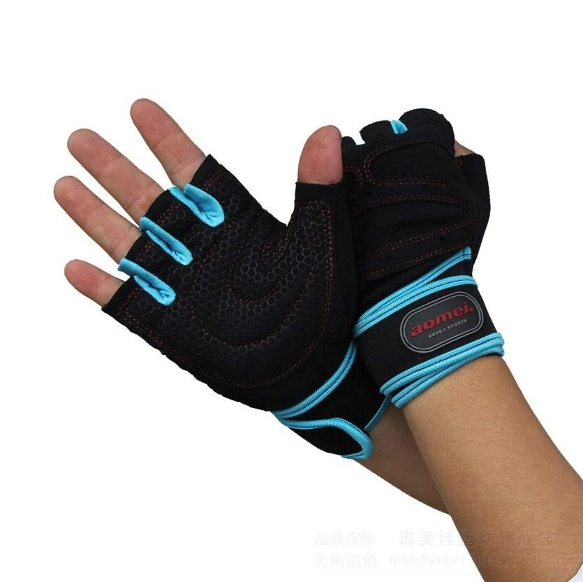 Wear-resistant Black half-finger gloves,weightlifting gloves, dumbbell, boxing ,horizontal bar, row,the gym gloves Free shipping(China (Mainland))