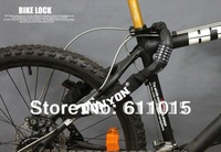 Free Shipping  Bicycle Steel Chain Cable Lock,5 Digital Password Combination  Bicycle Steel Chain Cable Lock 90cm