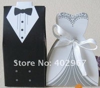 Hot Sale  bride and groom -- Wedding Favors box Wedding candy boxes gift packaging 300pcs/lot
