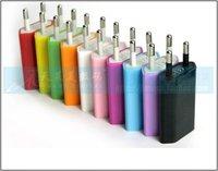DHL /FEDEX Free shipping  colorful EU travel 1000pcs/lot AC Power USB Wall Charger For iPhone 4 4S 3GS iPod EU Plug