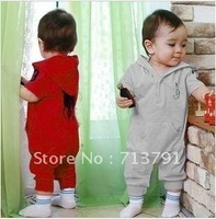 wholesale brand baby romper ,baby brand clothing ,Baby coveralls ,6 colors ,3piece/lot