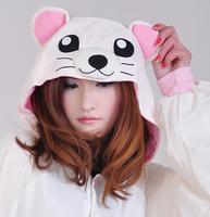 Sleepwear female cartoon bear animal one piece sleepwear lounge female 100% cotton long-sleeve lovers sleepwear