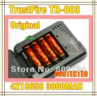 Trustfire TR-003  multi-function Charger+ 4pcs18650 3000mah Protected  Rechargeable Batteries