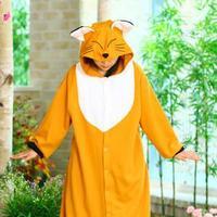 Thatmany cartoon animal fox one piece sleepwear male female form costume lovers