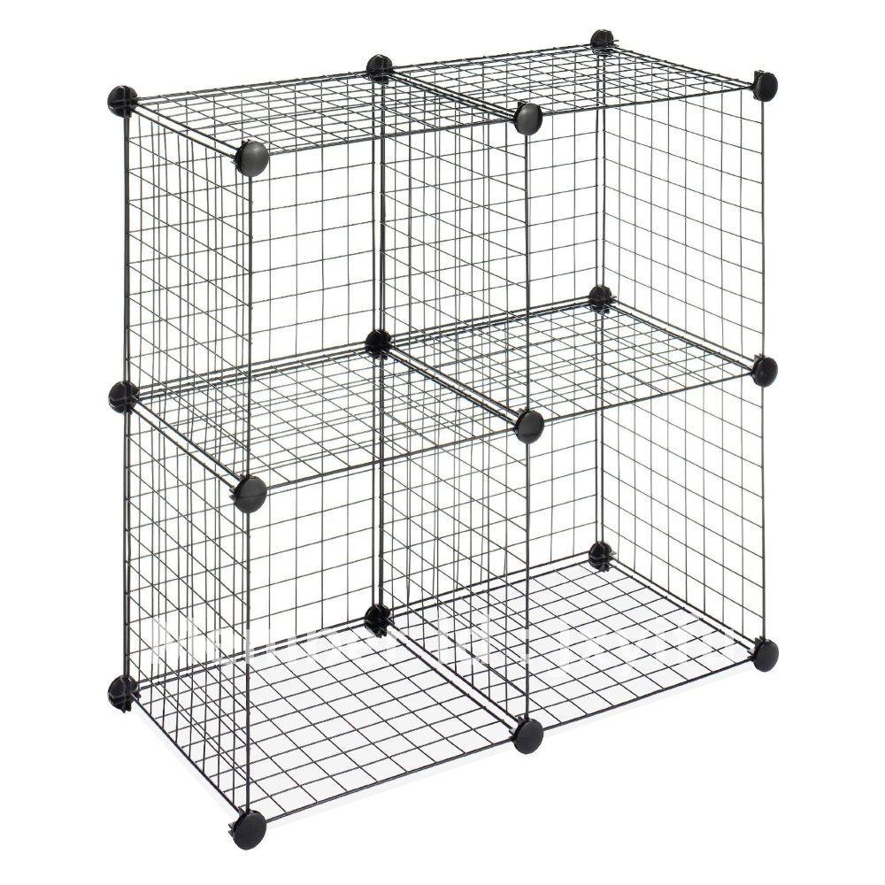 Manualt wire mesh storage cubes