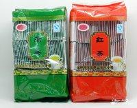 200bags Organic 100pcs Green Tea+ 100pcs Black Tea Yunnan Dianhong Dahongpao,Xihu Dragon Longjing tea Bilunchun,Free Shipping