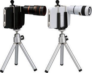 Mobile Phone 8X Zoom Telescope Camera Lens  for Cellphone Telephoto Lens Tripod Stand Hard Back Case