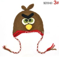 10pcs/lot Cartoon Designs New OWL handmade hats for children (5 colors) _MZ0940 100%Cotton Animal Styles Baby hats