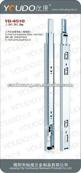 3-fold full extension drawer slide