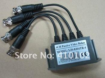 5pcs/lot UTP 4 Ch Passive Video Balun Transceive 4CH Channel Passive Video Balun receiver