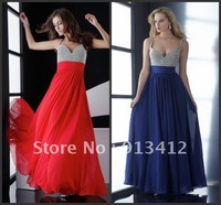 Free Shipping By DHL/FedEx Hot Sale 2012 New Design Sweetheart Spaghetti Strap Ankle Length Ball Gown Prom Dress Custom Made