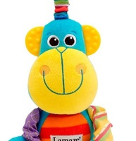 1pcs  Lamaze stuffed baby toysSuper cute baby plush toy lamaze colorful  Monkey Animal bed bell bed hang Rita Yib's store
