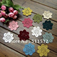 "2.75"" Handmade Crochet Flower Applique headband flowers scrapbooking sewing trim boutique handcraft ,Muti-Colors,100pcs/lot"
