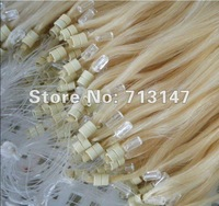 Easy Loop hair Extensions 100% Human Hair 613#color /micro ring  0.7g/strands /100strands/pack,2 packs/lot