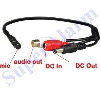 5pcs/lot Mini CCTV Wide Range Microphone for Security Camera Audio Surveillance DVR Free Shipping