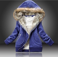 M,L,XL,2012 New arrival, Winter Lady Parkas with hat ,Warm Hooded Sweatshirt, Casual padded Warm Jacket Cotton+Pu Wool
