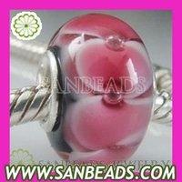 Free Shipping! 5pcs/lot 2012 Fashion 925 silver core italy murano glass beads