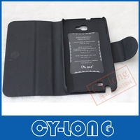 Free Shipping Fashion Wallet PU Leather cover   hard case for Samsung Galaxy NoteI9220