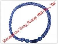 Duke Blue Devils Titanium 3 Rope Tornado  Twist Necklace Blue & White*2012-2013* Style NCAA Sport Necklaces