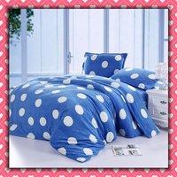 CORAL FLEECE 3pcs Single-size Blue Printing Soft Bedding Set Gift Free Shipping