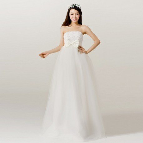 Ball Gown Floor-length Gravida Wedding Dress H11011, Princess Bridal Gown, free shipping(China (Mainland))